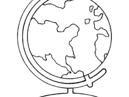 440x330 Globe Coloring World Globe Coloring Page Coloring Coloring Pages