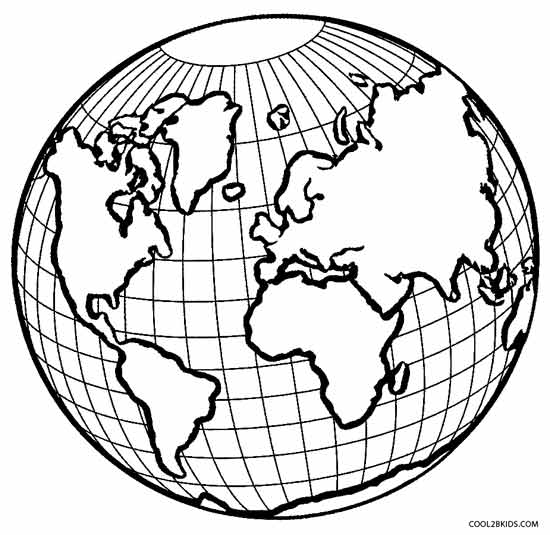 550x535 Globe Coloring Pages Printable Earth Coloring Pages For Kids