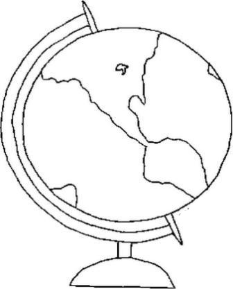 336x417 Printable Globe Coloring Pages, World Globe Coloring Page