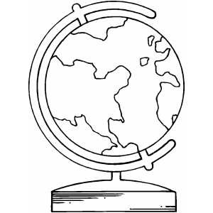 300x300 World Globe Coloring Page The Coloring