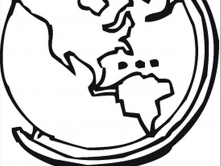 440x330 Best Photos Of Flat Earth Globe Coloring Page Blank World, World