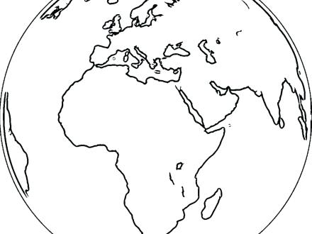 440x330 World Globe Coloring Page Best Photos Of Flat Earth Globe Free