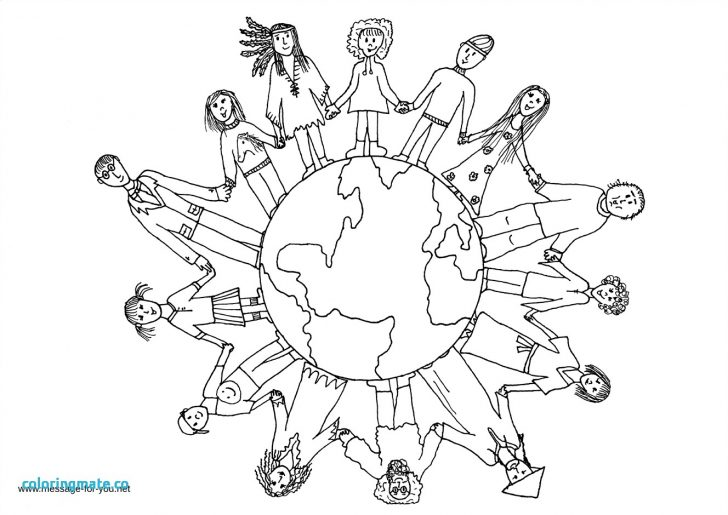 728x515 World Globe Coloring Page