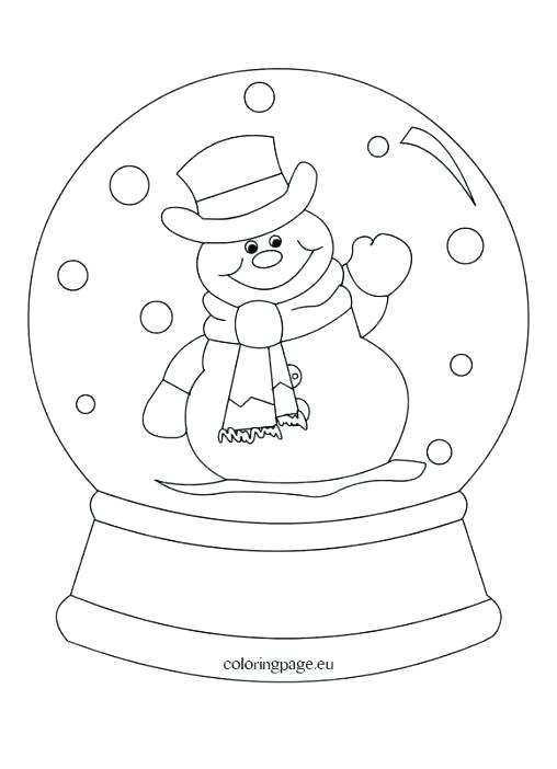 508x702 Globe Coloring Page