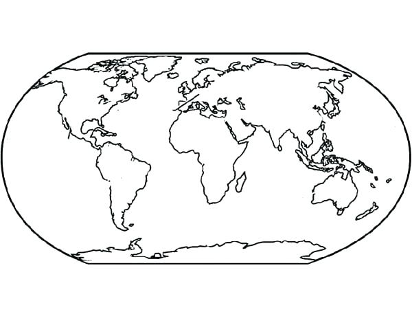 600x473 Globe Coloring Page
