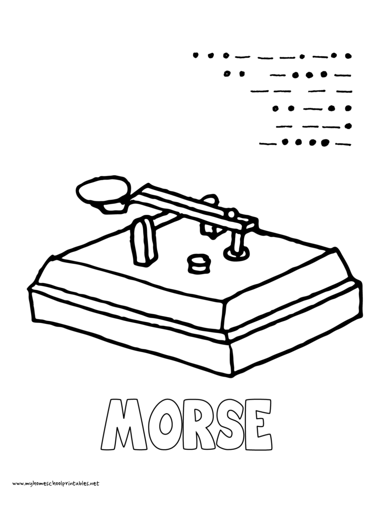791x1024 World History Coloring Pages Printables Morse Code In Printable