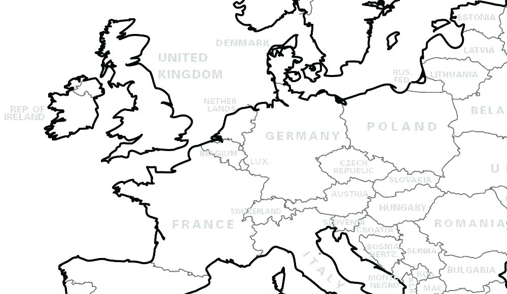 1000x580 World Map Coloring Pages Map The World For Kids To Color Map