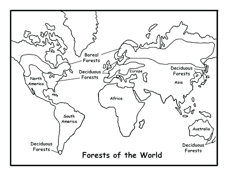 World Map Coloring Page At Getdrawings Free Download