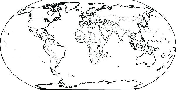 The best free World map coloring page images. Download from ...