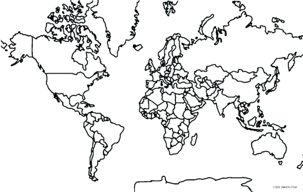 1024x649 Maps For Coloring Printable World Map Coloring Page For Kids
