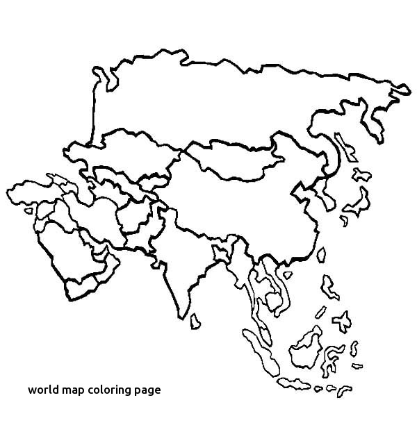 600x612 World Map Coloring Page