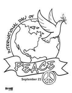 236x305 International Peace Day Coloring Page Peace