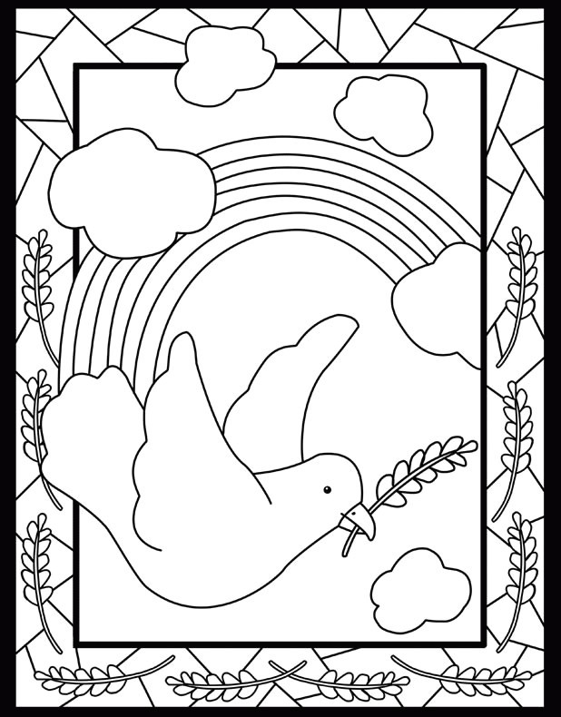 618x790 Lovely Dove Peace Coloring Pages Coloring Ws