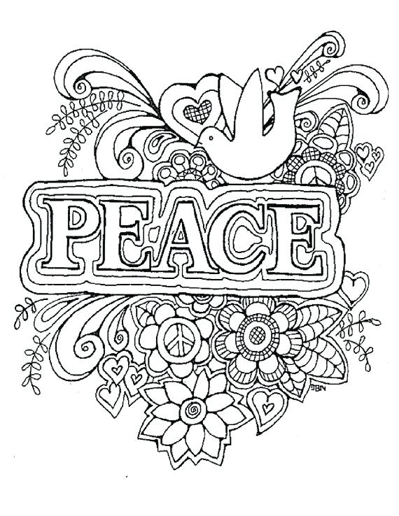 570x738 Peace Coloring Page Surprising Peace Coloring Pages For Your