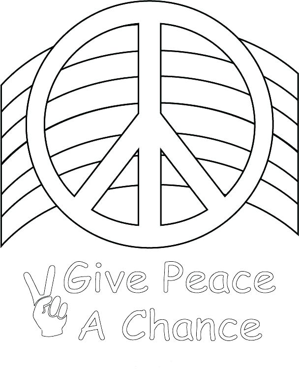 608x750 Peace Day Coloring Pages Peace Coloring Pages Drawn Peace Sign