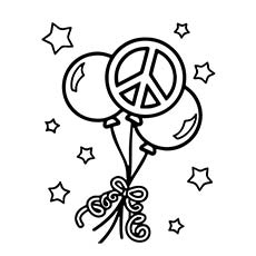 230x230 Top Free Printable Peace Sign Coloring Pages Online