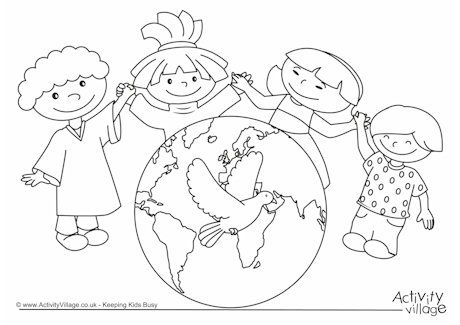 460x325 World Peace Day Coloring Pages Recipes Peace
