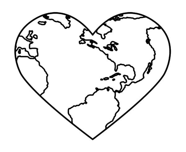 600x493 Bring Love Peace On Earth Day Coloring Page Bring Love