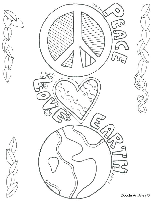 618x800 Coloring Pages Of Peace Signs Peace Coloring Pages Peace Sign