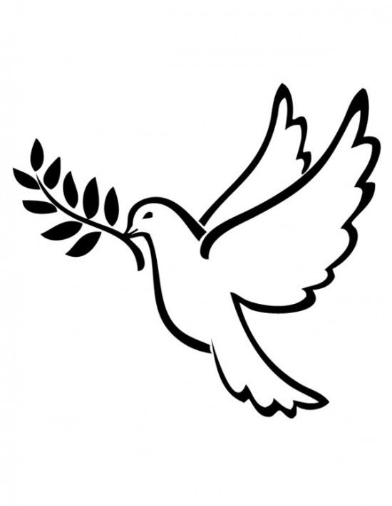 550x711 Dove Of Peace Coloring Pages Ink Peace, Tattoo