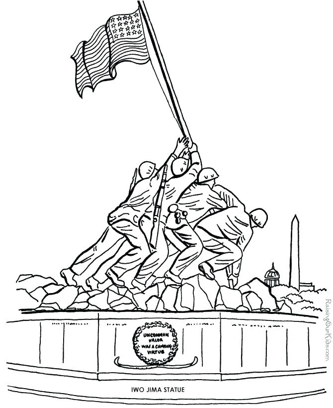 670x820 Wwii Coloring Pages Picture To Color These Free Printable Veterans