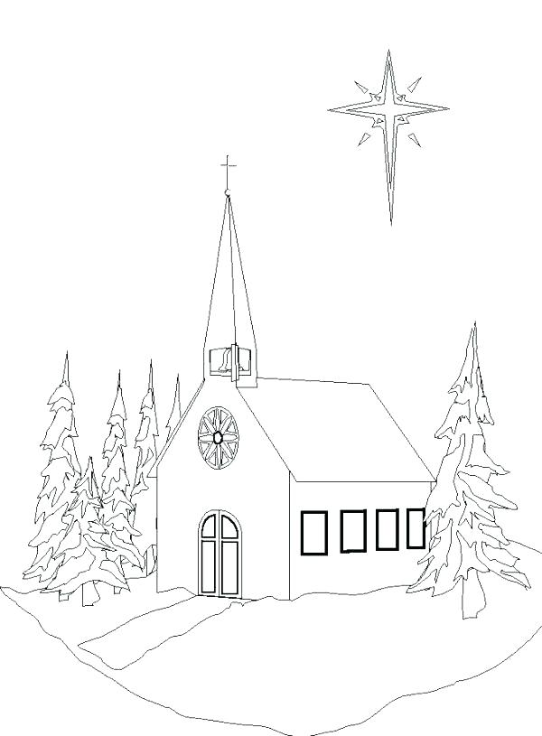 600x815 Church Coloring Pages To Print Church Coloring Sheet Coloring