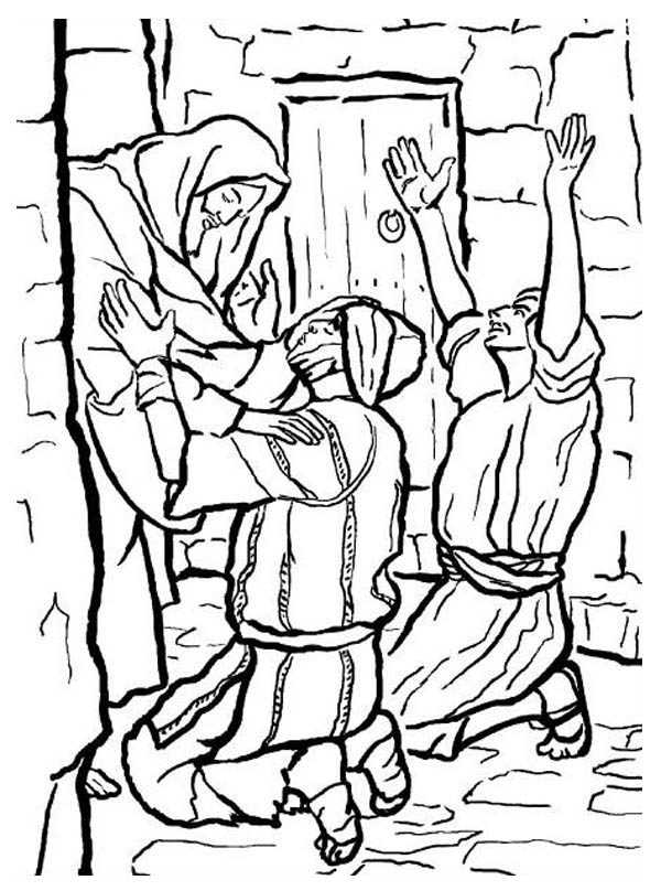 600x808 People Worship The Miracles Of Jesus Coloring Page