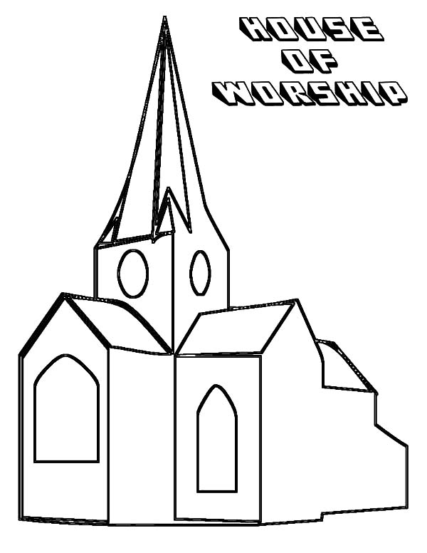 600x776 Church House Coloring Pages Church House Of Worship Coloring Pages