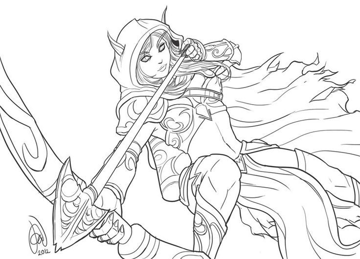 736x530 Best Warcraft Coloring Pages Images On Print