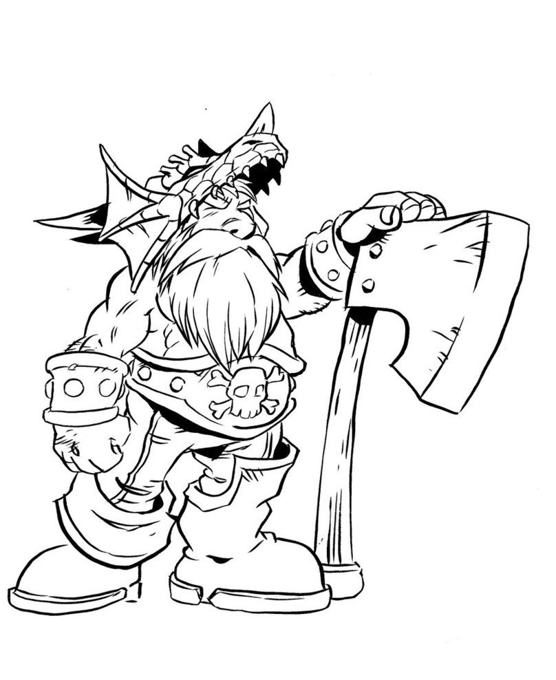808x988 Free Printable World Of Warcraft Coloring Pages Dwarf