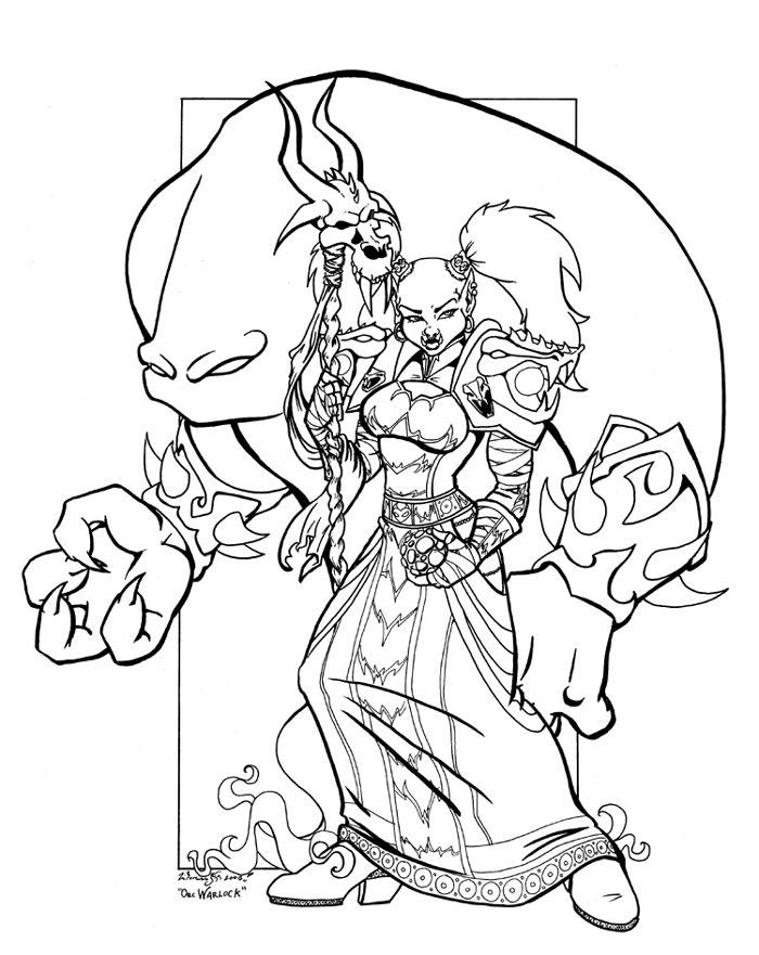 700x881 Warcraft Coloring Pages