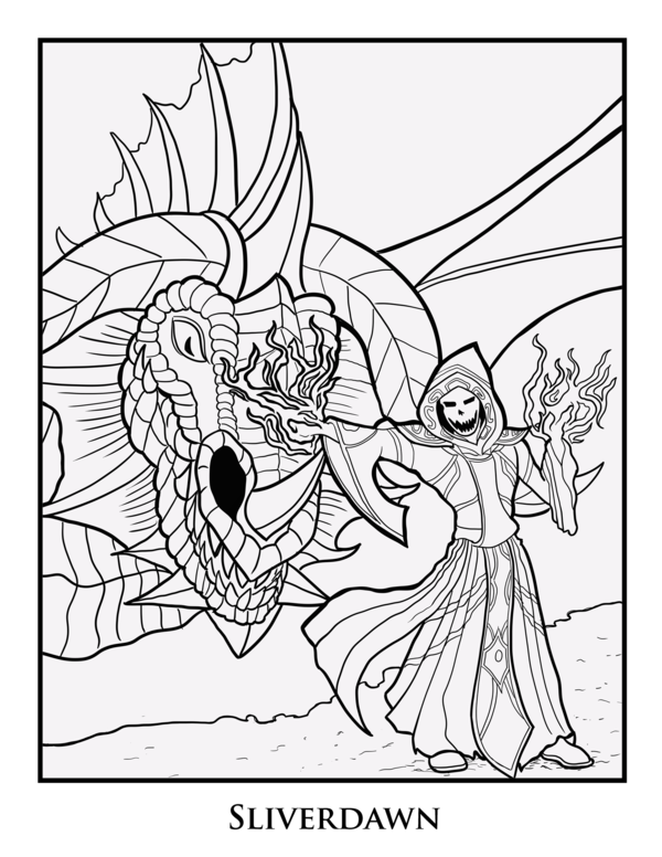 600x776 Coloring Page