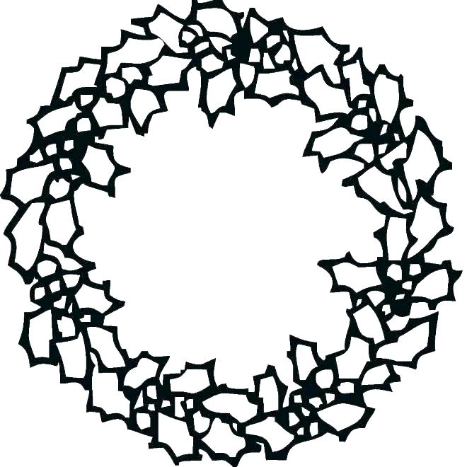 660x660 Advent Wreath Coloring Pages Printable Wreath Doodle Colouring