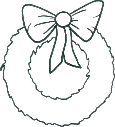 468x517 Christmas Wreath Coloring Page Free Printable Wreath Coloring Page