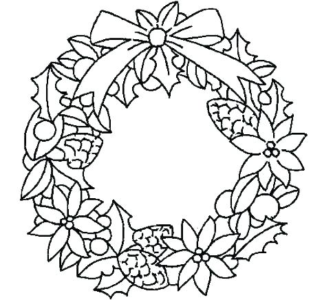 468x436 Christmas Wreath Coloring Pages Wreath Coloring Pages Reef