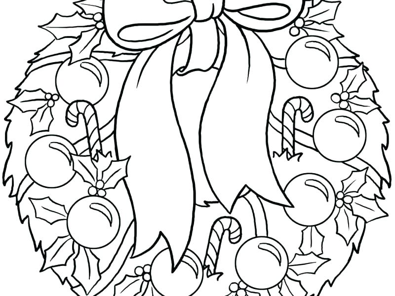 800x600 Wreath Coloring Page Wearing Wreath Coloring Page Wreath Coloring