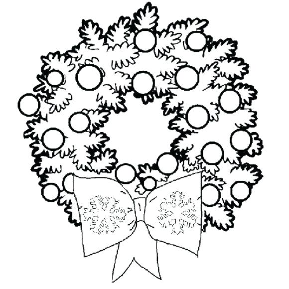 580x580 Wreath Coloring Pages Wearing Wreath Coloring Page Free Printable