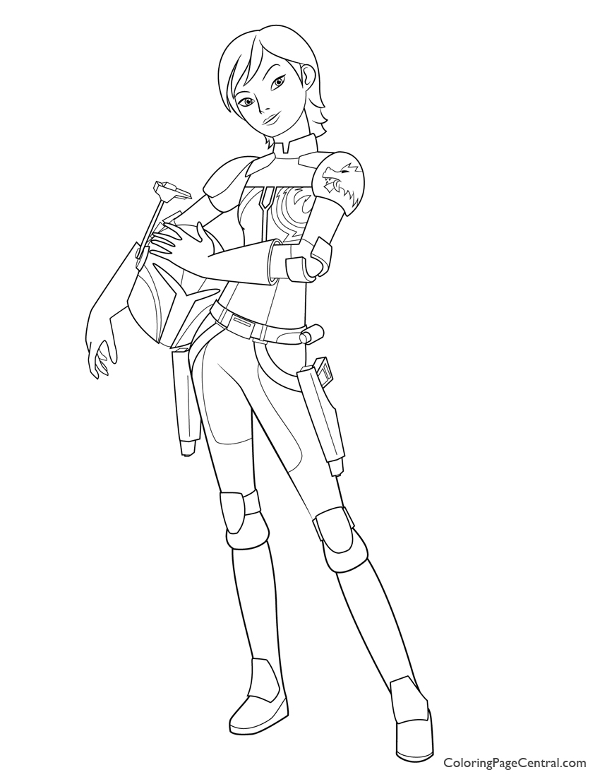 850x1100 Star Wars Sabine Wren Coloring Page Coloring Page Central