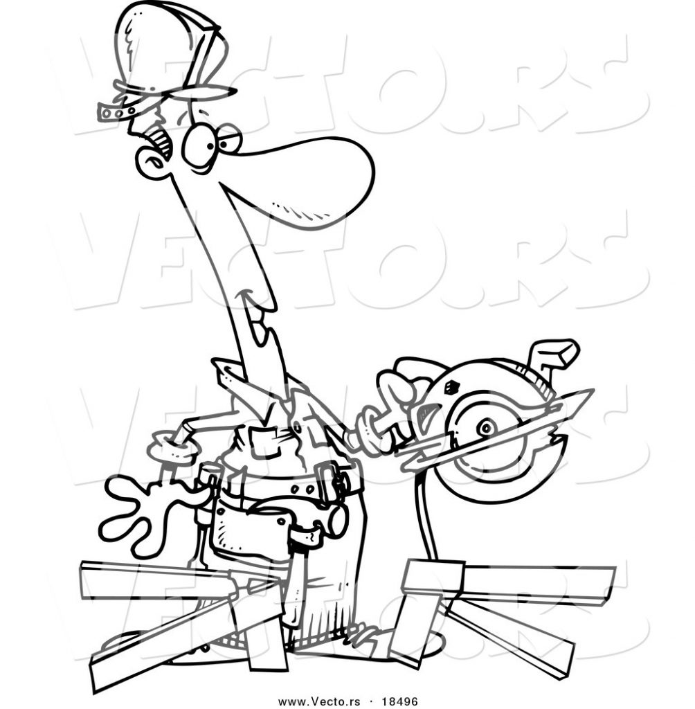 1004x1024 Drawing Handyman Coloring Page Pages Literarywondrous For Free