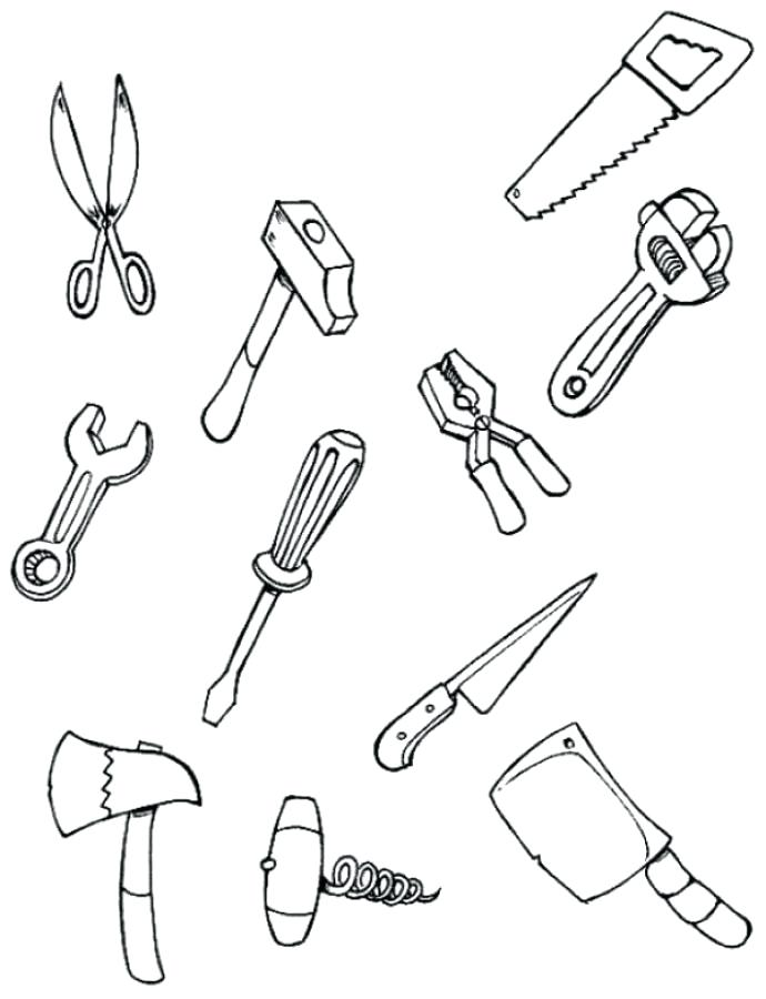 690x900 Tools Coloring Pages Tool Coloring Pages For Kids Carpenter