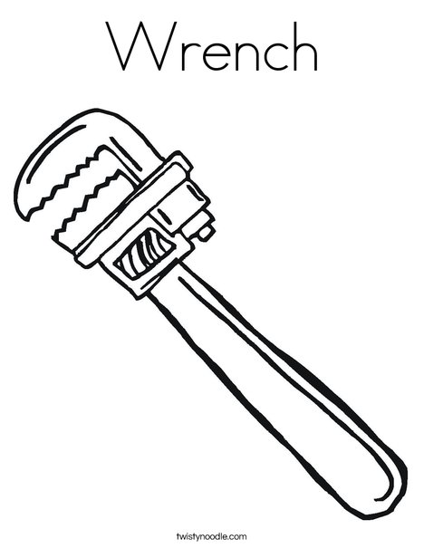 468x605 Wrench Coloring Page