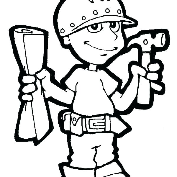 600x600 Coloring Pages Of Tools