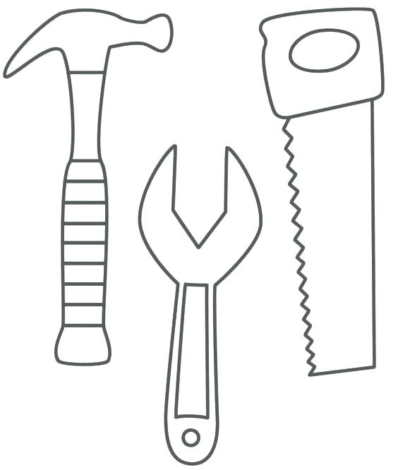 564x666 Coloring Pages Carpenter Tools Tools Coloring Pages Mallet