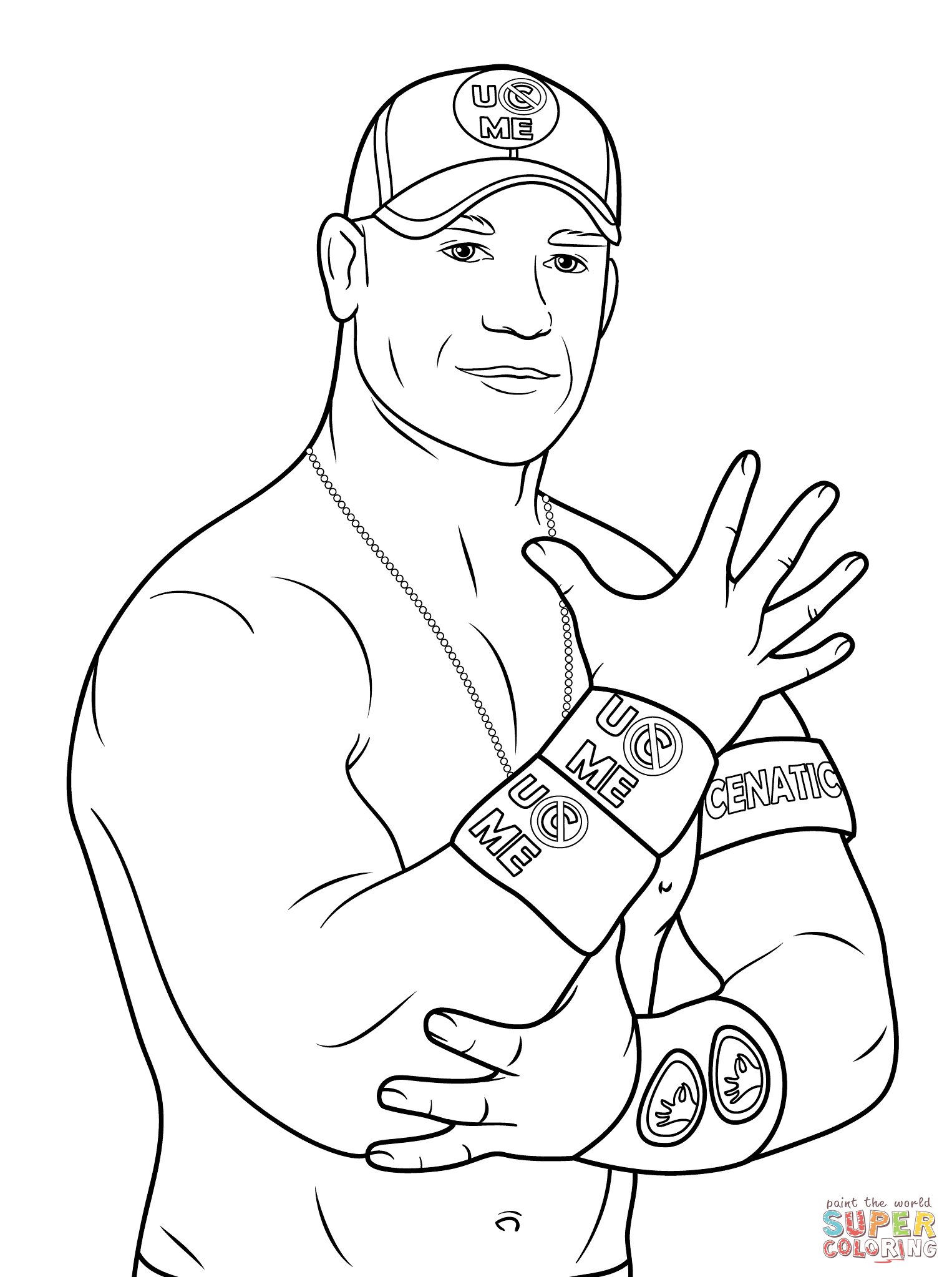 1526x2046 Stunning Wrestling Belt Coloring Pages With John Cena To Print