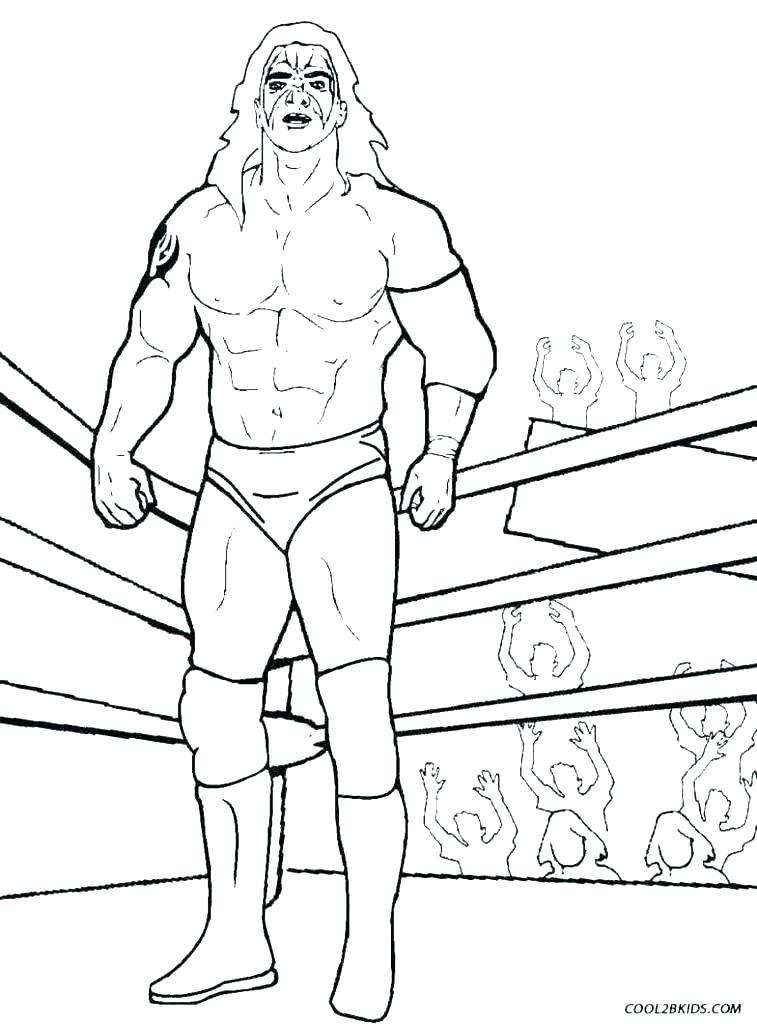 757x1024 Wrestling Color Pages Coloring Pages Roman Reigns Printable