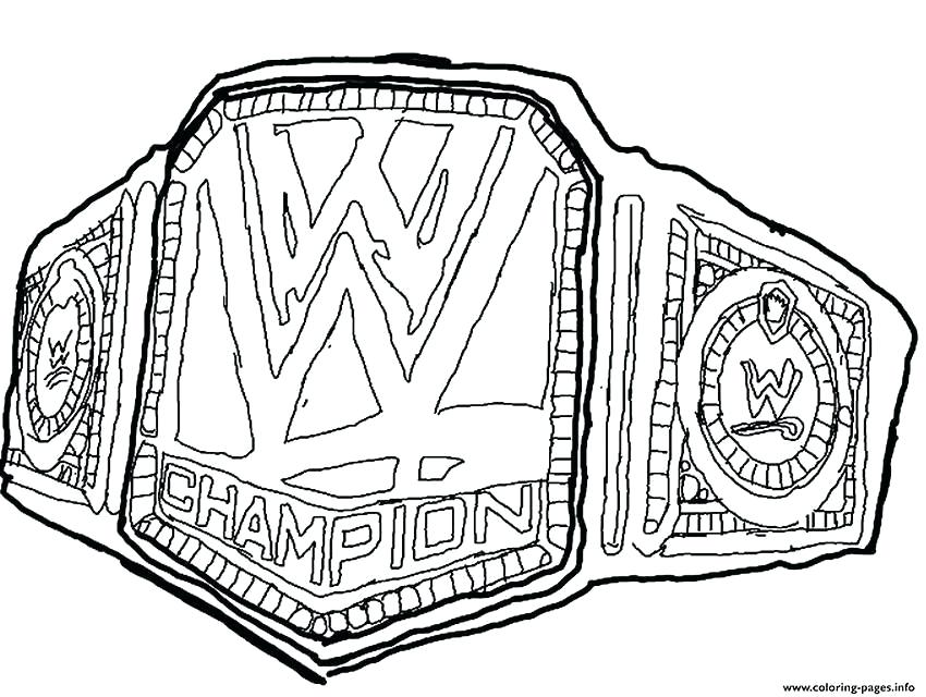 850x640 Wwe Champion Belt Coloring Pages Image Result For Belts