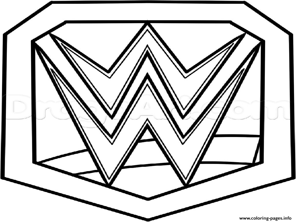1024x768 Wwe Championship Belt Official Coloring Pages Printable