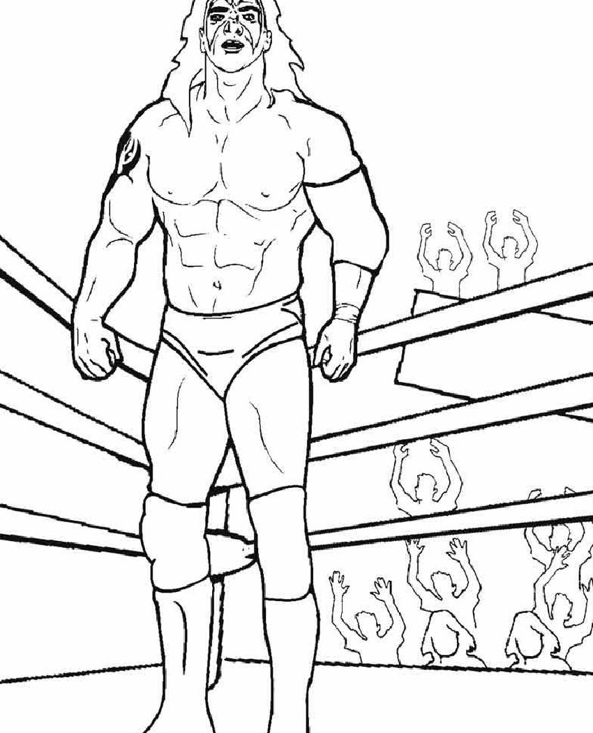 850x1050 Coloring For Kids Kane And Undertaker Pages Wrestling Miller