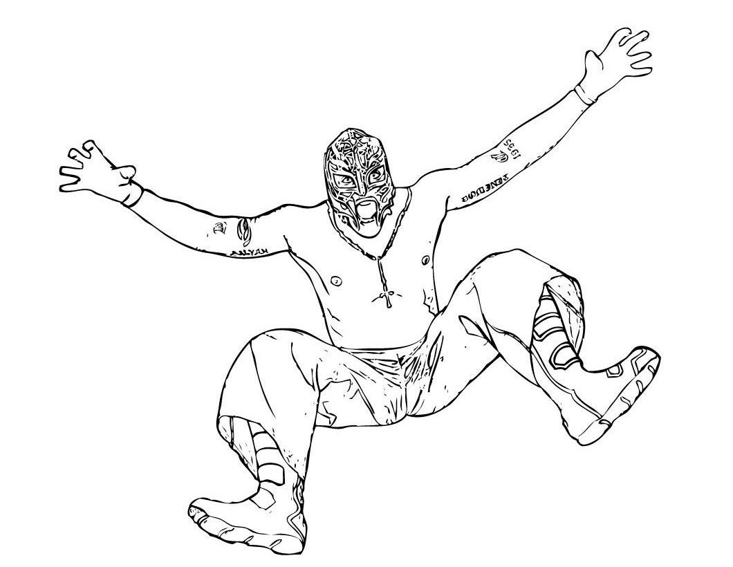 1060x820 Wwe Crazy Wrestler Coloring Pages For Kids Free Printable Coloring