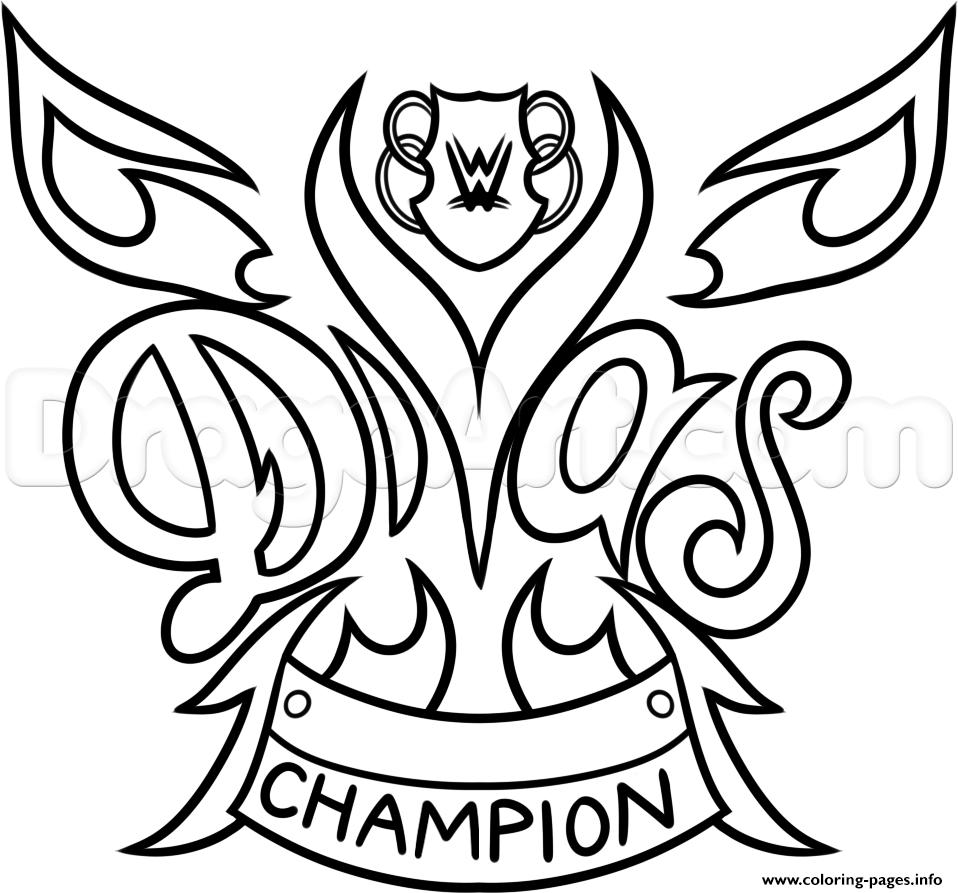 958x893 Wwe Diva Championship Belt Nikki Bella Wrestling Coloring Pages